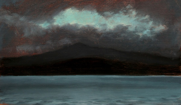 Storms at Dusk, Silver Lake, oil on canvas, 2012