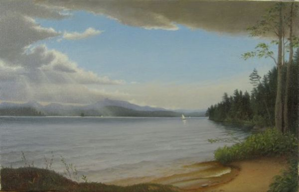 "Color Study for Silver Lake, 9""x12"" oil on canvas, 2012"