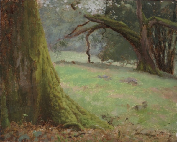 "Oak Grove, 8""x10"" oil on linen"