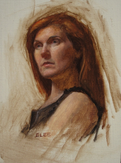 "3 hour sketch, oil on linen, 6""x8"", 2013"